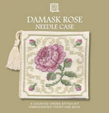 Damask Rose  Needle Case  Cross Stitch Kit